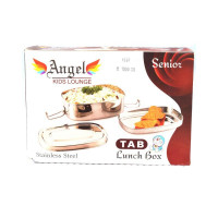 ANGEL Angel Kids Steel Lunch Box - Silver