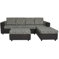 Awana Sectional sofa  - Dark Grey Base And Grey Cushions
