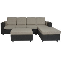 Awana Sectional sofa  - Dark Grey Base And Light Grey Cushions